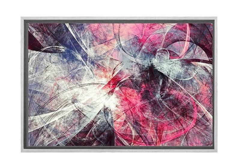 Buy Pink Grey Black Abstract Canvas Wall Art Print