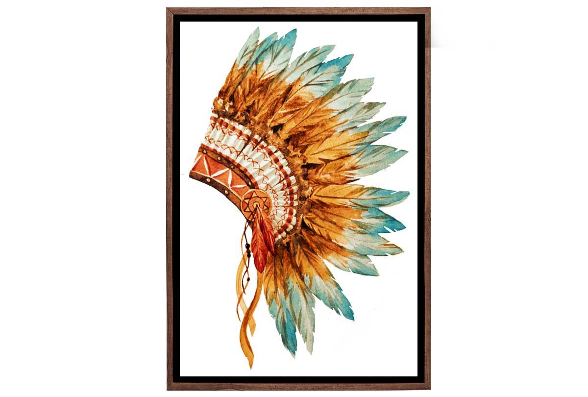 Indian Headdress Canvas Wall Art Print Final Touch Decor