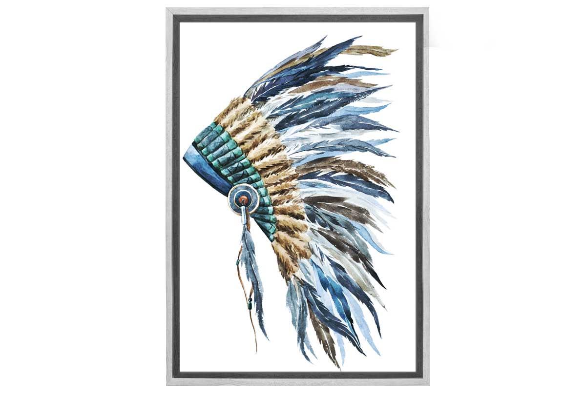 Indian Headdress 2   Canvas Wall Art Print   Final Touch Decor