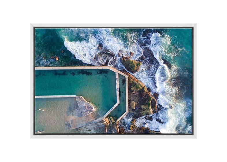 Curl Curl Rock Pool, Australia | Canvas Wall Art Print